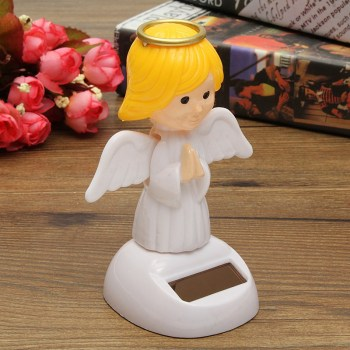 New Arrival Solar Toys Plastic ABS Dancing Fun Angel Flip Flap Powered Toys For Desk Home Ornaments Decor Toys 2