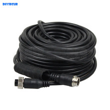DIYSECUR Waterproof 15 Meters 49 Feet 4pin Connectors Extension Cord Video / Signal Cable For Camera Monitor Reversing System
