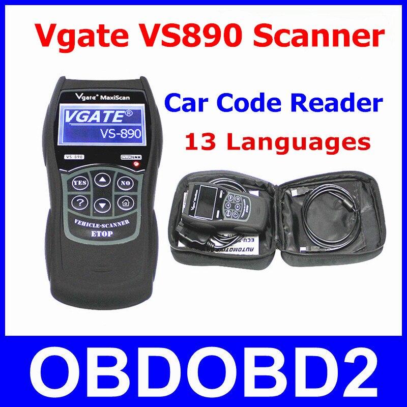 Live Data Scanner Vgate VS890 OBD2 Car Code Reader VGATE VS 890 Read All DTCs OBDII