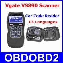 Оперативные данные сканер Vgate VS890 OBD2 автомобиля код читателя Vgate vs-890 узнать все коды неисправностей OBDII VS 890 сброс Двигатели беззеркальной ЖК-дисплей несколькими lanugages