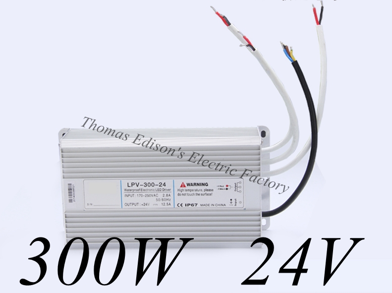 DIANQI waterproof power supply 220v AC TO 24v DC 300w 24V for LED Industrial power suply water proof meanwell 24v 60w ul certificated lpv series ip67 waterproof power supply 90 264v ac to 24v dc