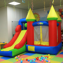 цена на 2013 newest combo slide jumping castle inflatable bouncer jumper jumping moonwalk with ball pool