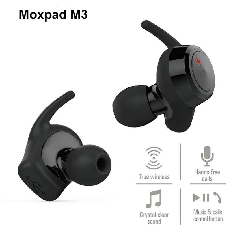 Original verdadero wireless doble oído moxpad m3 mini bluetooth auriculares depo