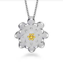 TJP Trendy Daisy Female Pendant Necklace For Women Party Jewelry Cute Flower Lady Pure 925 Silver Choker Accessories