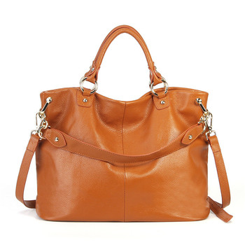 Nesitu High Quality Black Grey Brown Large Capacity Genuine Leather Women Handbag Office OL Messenger Bag Tote Shoulder Bag M193