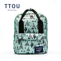 TTOU Design Character Printing Backpack Teenage Girls School Bag Women Backpack Travel Bag Large Capacity Can be Portable Bag