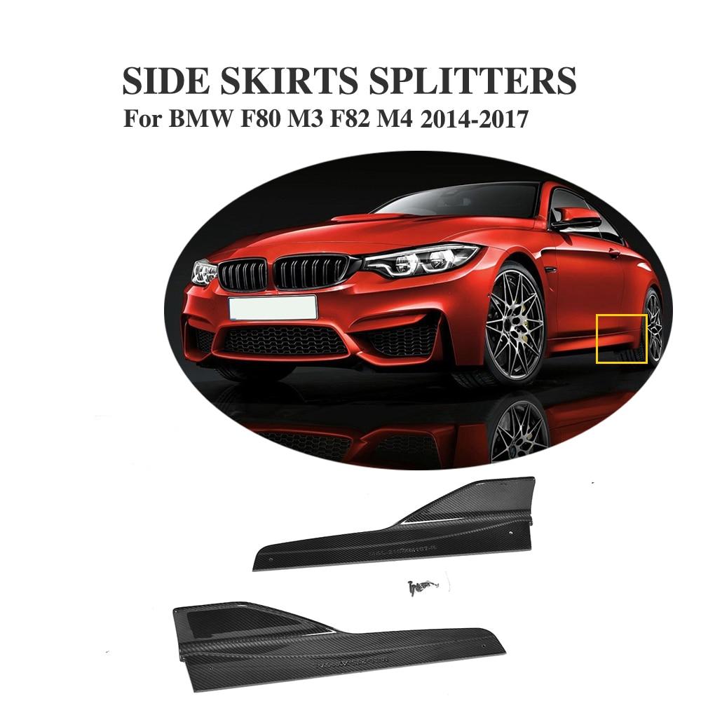 Jc design carbon fiber side bumper skirts rear splitters for bmw f80 m3 4door f82 m4