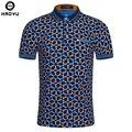 2016 moda verão mens polo camisa de manga curta padrão geométrico camisa magro para homens polo camisas camisa polo masculina grande tamanho