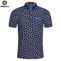 2016 Summer Fashion Mens Polo Shirt Short Sleeve Geometric Pattern Slim Shirt For Men Polo Shirts