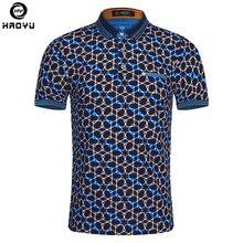 Купить с кэшбэком 2016 Summer Fashion Mens Polo Shirt Short Sleeve Geometric Pattern Slim Shirt For Men Polo Shirts Camisa Polo Masculina Big Size