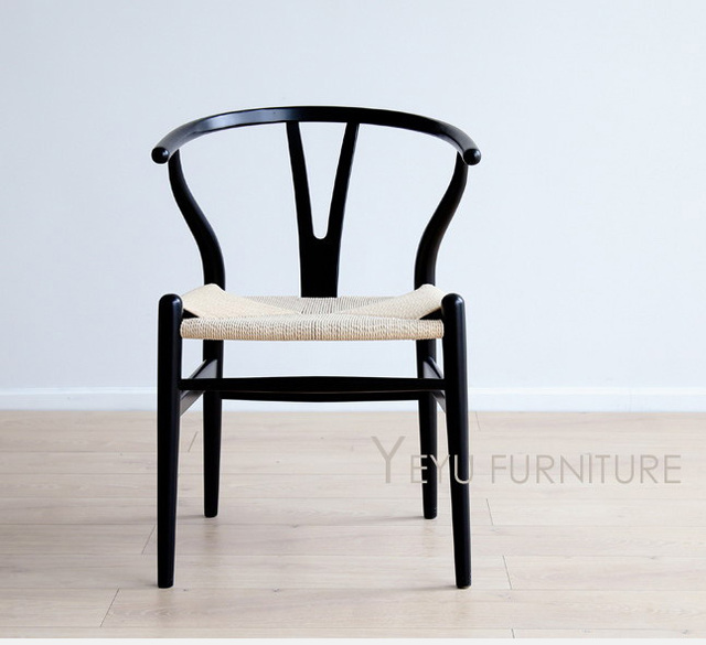 Silla de comedor de madera maciza de haya de diseño moderno, muebles ...