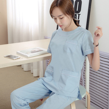 Korean version of fashion round wash hand clothes surgical clothing oral, dental, gynecological plastic work clothing
