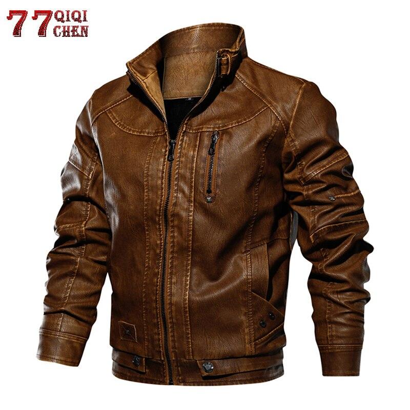 Marca tático jaqueta de couro do plutônio dos homens tamanho euro S-XXL gola motocicleta jaqueta de couro masculino jaqueta de couro dropshipping