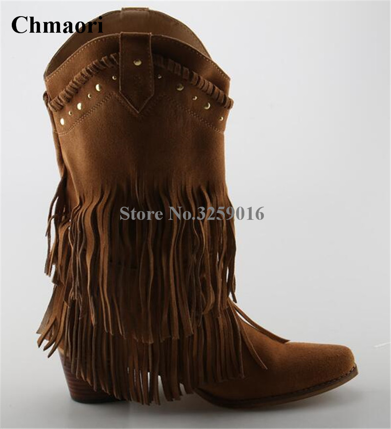 Winter Women Fashion Pointed Toe Suede Leather Tassels Knight Knee High Boots Fringes Motorcycle Long Boots Leisure Boots db7191 dave bella summer baby girls newborn infant toddler jumpsuits children short sleeve printing clothing baby romper