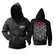 30 Ontwerpen Slayer Katoen Soft Rock Hoodies Shell Jas Punk Heavy Metal Rits Sweatshirt Fleece Sudadera Schedel Bovenkleding