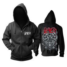 30 Ontwerpen Slayer Katoen Soft Rock Hoodies Shell Jas Punk Heavy Metal Rits Sweatshirt Fleece Sudadera Schedel Bovenkleding(China)