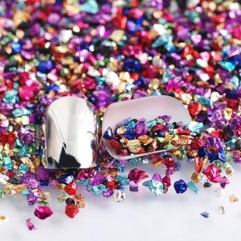 Wholesale prices 450g/Bag Broken Glass Rhinestones for Nails Gems 3D Mix Nail Art Rhinestone Decorations Stones 3