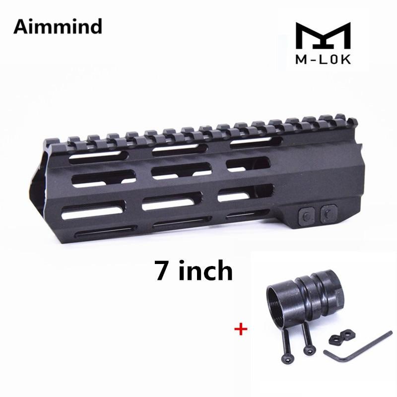 "US 15/"" Free Float M-LOK Handguard Picatinny Rail mount/&Steel Nut for Rifle Hunt"
