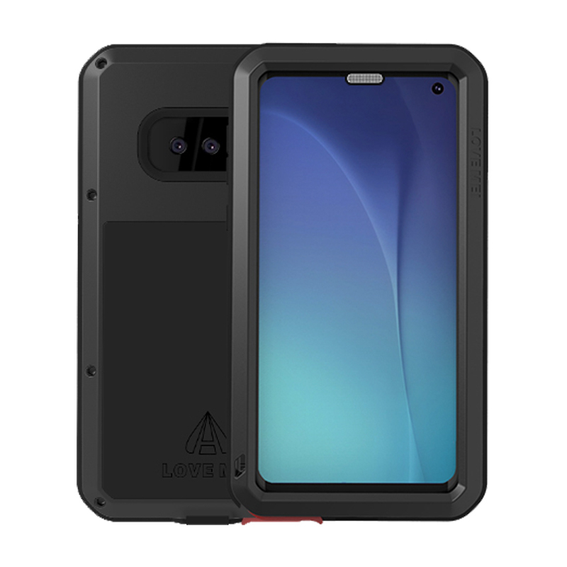Metal Case For Samsung Galaxy S10 Plus E S10E A8 A6 2018 Shockproof Full Body Glass Armor Cover