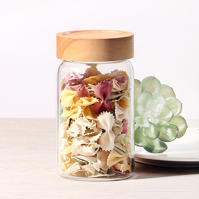 Gl Storage Bottles Jars Cans Box Tea Caddy Bank For Kitchen Mason Jar Small Sealed Food Container E Dried Fruit Air