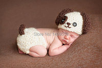 Crochet Puppy Dog crocheted Hat and diaper cover Photography Prop three different designs 5 pcs/lot