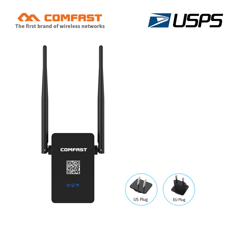 COMFAST 750Mbps WIFI Repeater signal amplifier 2.4G/5.8G 802.11ac Wi fi router roteador Extender Dual Band repetidor USPS free