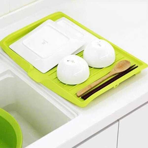 NOCM-Kitchen Plastic Dish Drainer Tray Large Sink Drying Rack Worktop Storage Rack Organiser