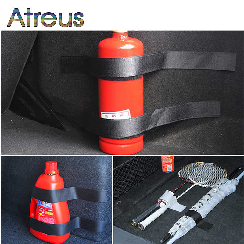 Atreus 1 مجموعة سيارة الجذع التخزين المنظم صافي الأشرطة لفورد فيست مونديو 4 كوغا الحارس الانصهار فولكس واجن بولو باسات B5 B6 جولف 5