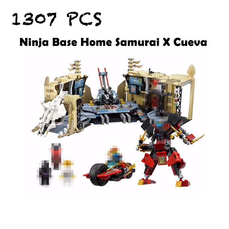 Compatible with lego  Ninja 70596 Models building toy 10530 1307PCS Base Home Samurai X Cueva Building Blocks toys & hobbies lepin 663pcs ninja killow vs samurai x mech oni chopper robots 06077 building blocks assemble toys bricks compatible with 70642