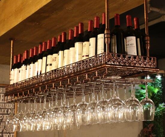 Grand sous meuble cuisine Bar & vin outils support de bouteille de vin support en verre verres à pied Rack armoire mur rangement organisateur