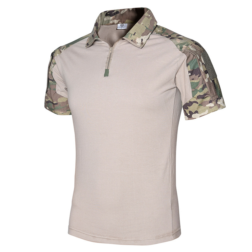 Mens Summer Quick Dry Breathable Tactical T-Shirts Outdoor Sport Anti-UV Hiking Climbing Cycling Wearable Short Sleeves VA159