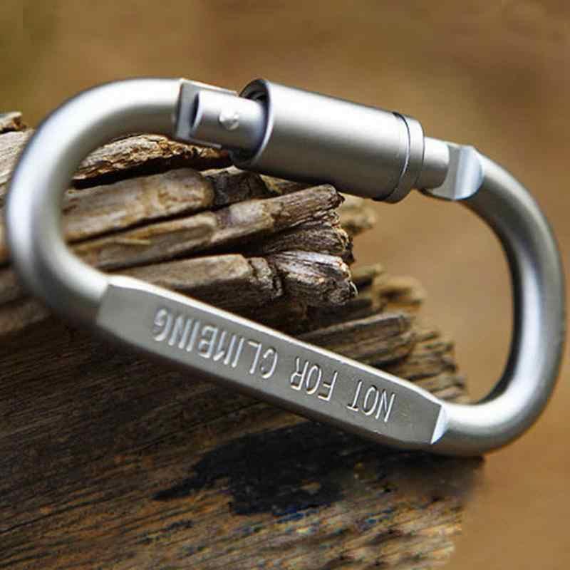 6 шт./партия карабин для путешествия набор кемпинга оборудование сплав алюминиевый снаряжение для выживания кемпинг альпинистский крюк карабин
