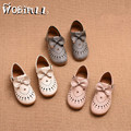 baby girls shoes 2017 children's leather shoes girls hollow soft bottom princess shoes summer breathable casual sandals 21-30