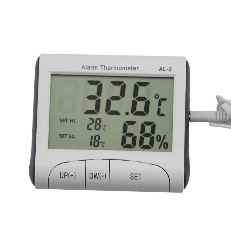 LCD Display Digital Indoor Hygrometer Clock Alarm Temperature Humidity Meter Gauge Thermometer Barometer Weather Station --M25