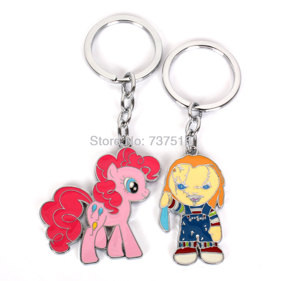 Bride of Chucky Horror Childs Play Good Guy Boy Edition & Friendship Pink is Magic Balloons Horse Metal Products Set of 2pcs