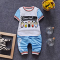 (2 pçs/set) Bebê curto conjunto de Roupas Definir menino Marca letra impressa T dos desenhos animados da Roupa Do Bebê 100% Algodão Underwear conjunto