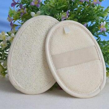 50PCS/lot 11*16cm Loofah Sponge Exfoliating Loofah Sponge Pads Natural Loofah Back Scrubber for Men and Women