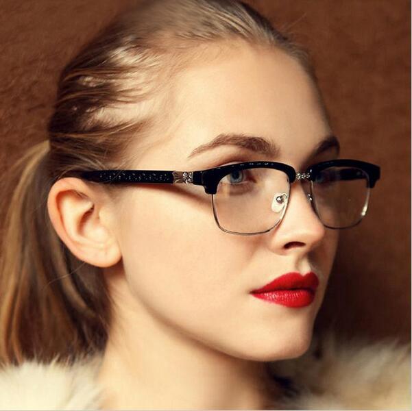6228e52807 Vintage Temperament Beauty Matel optical Eyeglasses Frames Women Myopia Glasses  Frame Clear Lens Oculos De Grau Feminino armacao-in Eyewear Frames from ...