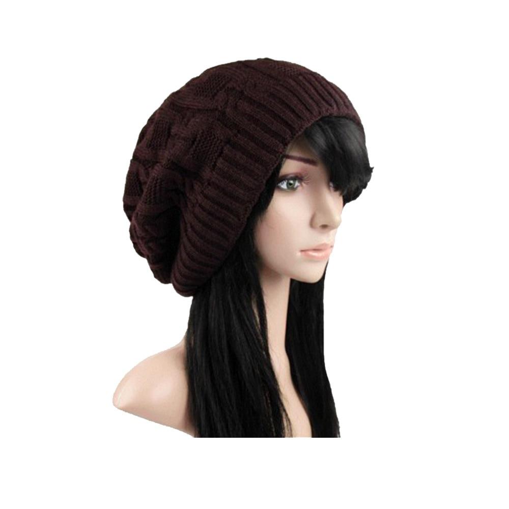 Women Winter Crochet Hat Wool Knit Beanie Warm Caps Autumn Skullies Beanies Woman Winter Hats For Women 30SP2