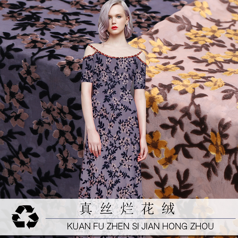 Telas Coton Tissu Printed Flower 3d Fabric Silk Velvet Fabric For Dress Material Plush Tecidos Para Costura Tissus Au Metre