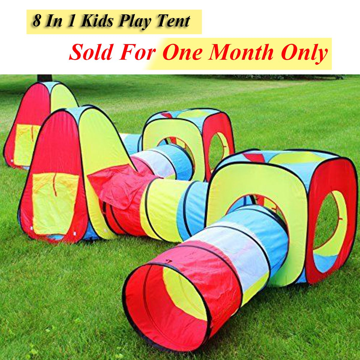 8 In 1 Portable Baby Playpen Children Kids Ball Pool Foldable Pop Up Play Tent Tunnel Play House Hut Indoor Outdoor Toys Fancing