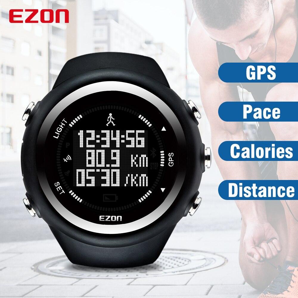 EZON GPS дистанция скорость калорий монитор мужские спортивные часы водонепроницаемые 50 м цифровые часы для бега Пешие прогулки наручные часы ...