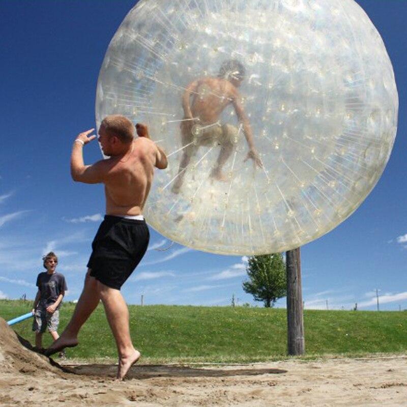 Livraison gratuite Zorb Ball 2.5 m balle de Hamster humain 0.8mm PVC matériel Zorb balle gonflable jeu de plein air