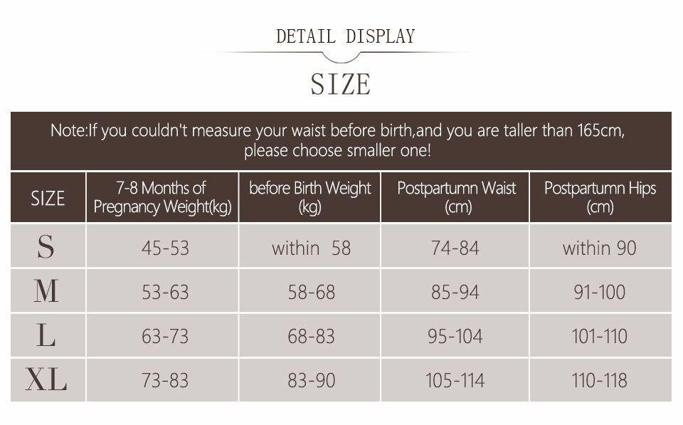 Postpartum Support Recovery Belly Wrap Waist/Pelvis Belt Body Shaper Postnatal Shapewear