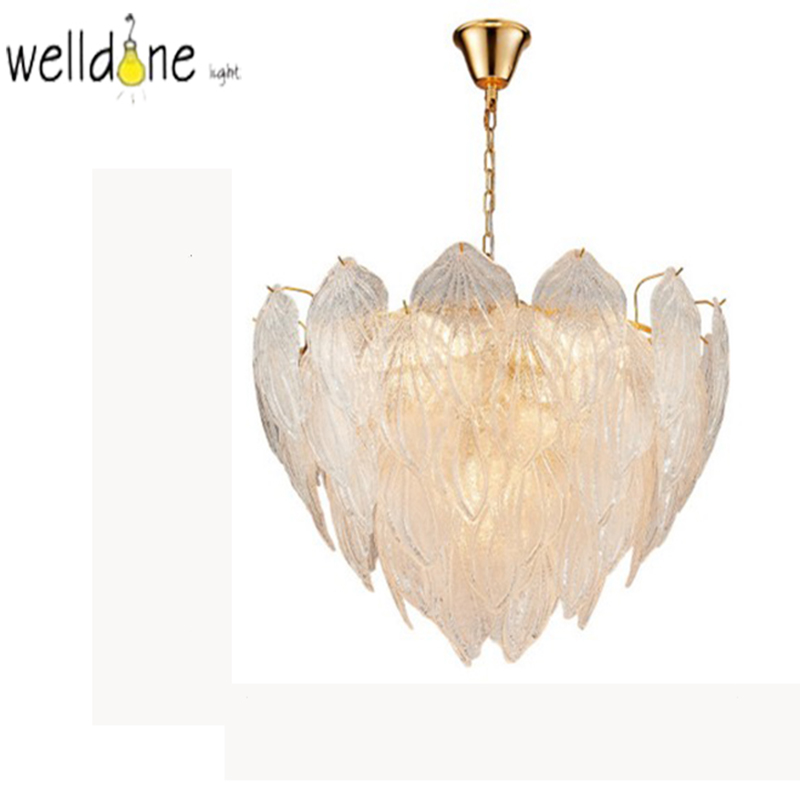 Fashion design art decorative glass leaf chandelier pendant lamp gold metalprototype room chandelier lighting modernFashion design art decorative glass leaf chandelier pendant lamp gold metalprototype room chandelier lighting modern