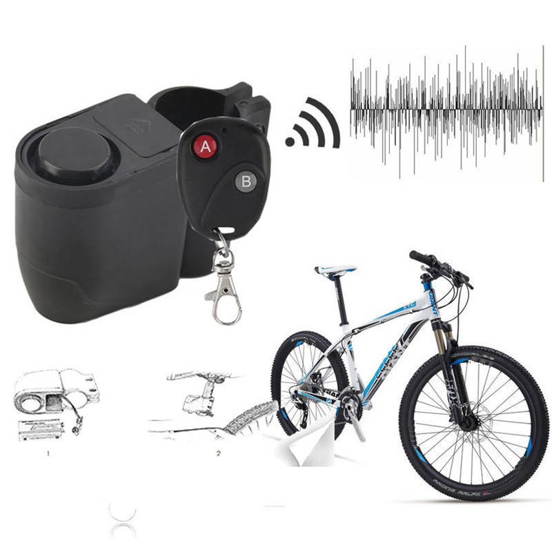 2017 new Hot Bicycle Wireless Remote Control Anti-Theft Alarm, Shock Vibration Sensor Bicycle Bike Security Alertor Cycling Lock