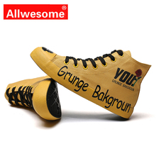 Allwesome High Fashion Red Bottom Shoes Canvas Rubber Vulcanized Print Sneakers Buty Trainer Street Bambas Hombre