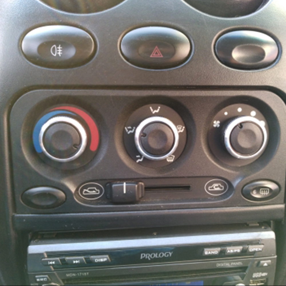 For Daewoo Matiz Chevrolet Joy Exclusive 98 Switch Knob Knobs Heater Heat Climate Control Buttons Dials Frame A/C Air Knob Cover 1pc seeyule car a c heater control panel 09092003n air conditioner temperature switch knob 71207001861 for peugeot 405 samand