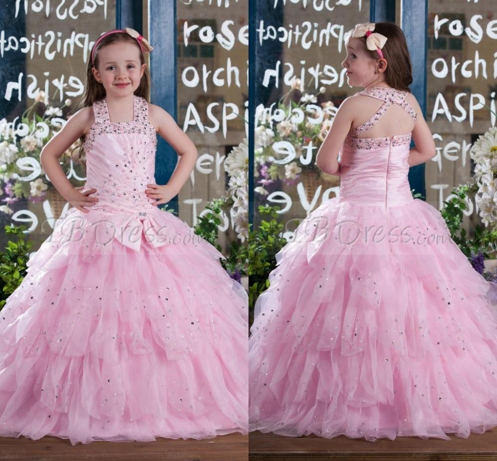 Bling de lujo de la nueva del niño vestido poco vestido del desfile ...