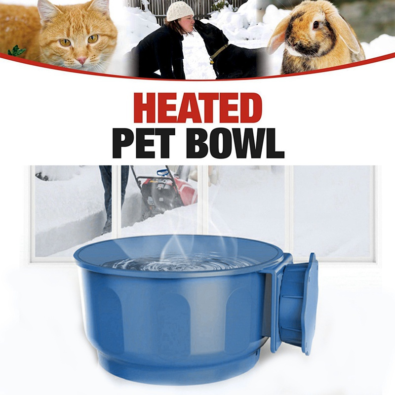 Pet Dog Cat USB Heated Pet Feed Bowls Water Bowl Heated Pet Feed Bowl safe Cage Feeder Automatic Constant Temperature Bowl